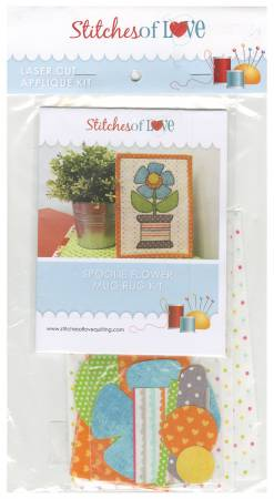Spoolie Flower Mug Rug Kit