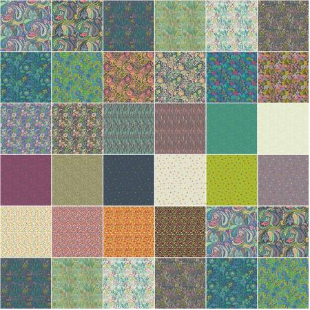Solstice by Sally Kelly, FAT QUARTERS 28pcs/bundle