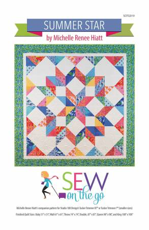 Summer Star Quilt Pattern by Sew on the Go