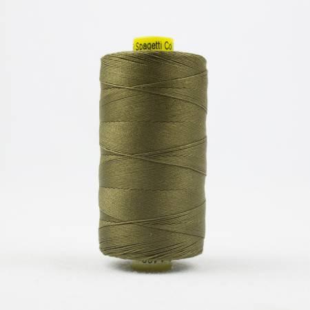 Spagetti Solid 12wt Cotton Thread  400m Army Green