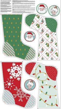 Santa Claus Lane Stocking Panel 2