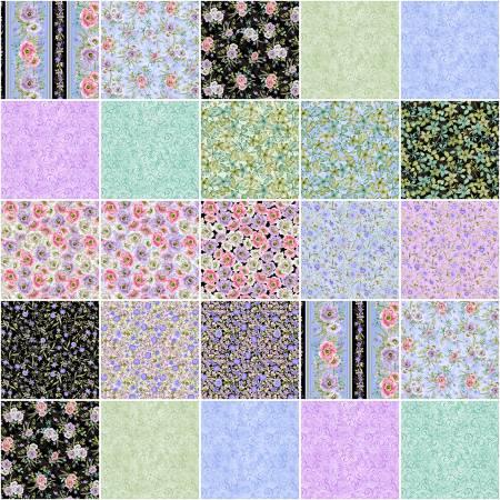 10in Squares Spring Breeze, 42pcs/bundle