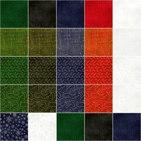 P&B 5in Squares Sparkle Suede, 42pcs/bundle