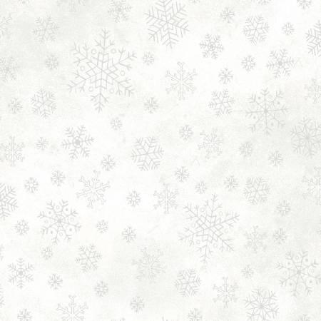 White/Silver Snowflakes w/Metallic
