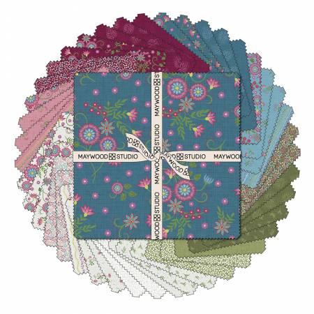 10in Squares Flower & Vine, 42pcs/bundle
