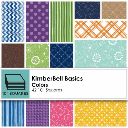 10in Squares Kimberbell Basics Colors 42pcs