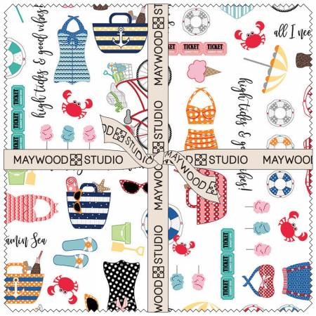 Kimberbell 10in Squares Vintage Boardwalk, 42pcs/bundle