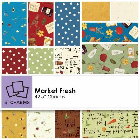 5in Squares Market Fresh 42pcs
