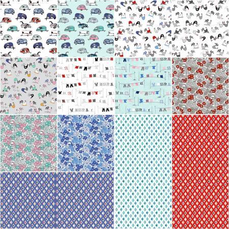 Tiny Print Nation, 5 Squares, 42pcs