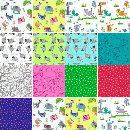 5in Squares Animal Magic, 42pcs
