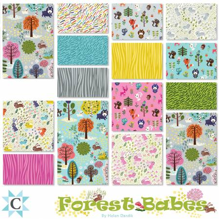 5in Squares Forest Babes, 42pcs