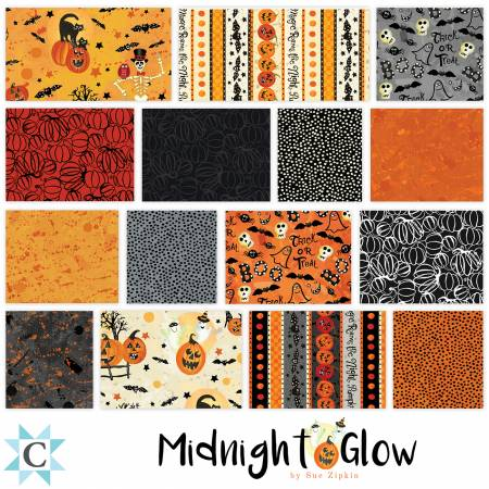 5in Squares Midnight Glow, 42pcs