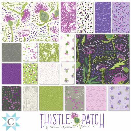 Precut 2.5 Strips Fabric: Thistle Patch