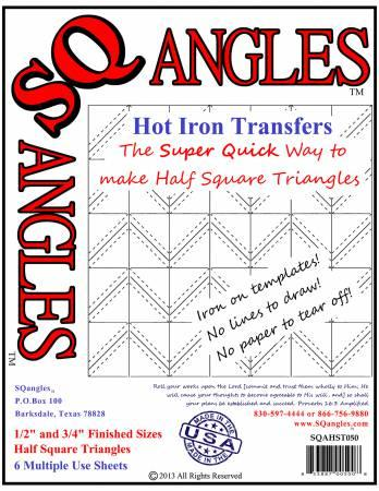 SQAHST050 SQangles Half Square Triangle 1/2in-3/4in Finished Size