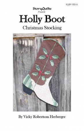 Holly Boot Christmas Stocking