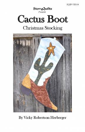 Cactus Boot Christmas Stocking