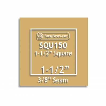Acrylic Template 1-1/2in Square with 3/8in Seam Allowance