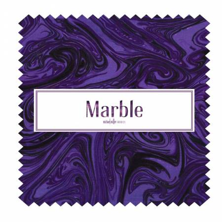 10in Squares Marble, 42pcs