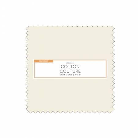 10 Squares, Cotton Couture, Cream, 42pcs/bundle