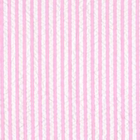 Breaker's Seersucker Stripe Cotton - Pink 44