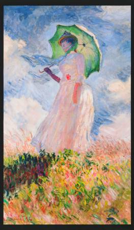 Sky Claude Monet Panel 24in repeat Digital Print