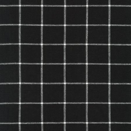 Robert Kaufman Black Essex Yarn Dyed Classic Wovens