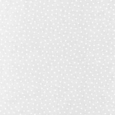 Mini Madness - White on White Triangles