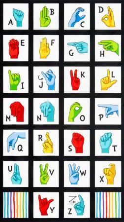 Sign Language Alphabet : 24 panel - #SRK-20220-205 (445)