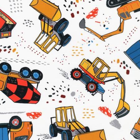 Build, Bang, Boom Trucks White