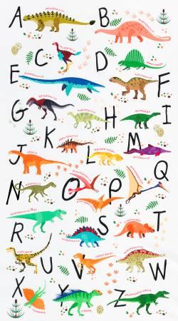 Alphasaurus Panel 24 x 44 - Alphabet Multi