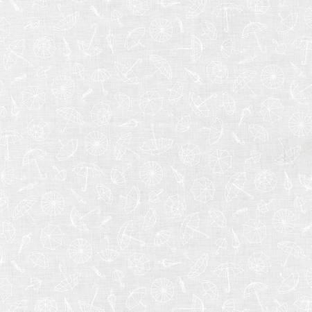 Robert Kaufman - Mini Madness - Umbrellas White SRK-20798-1