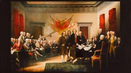 Antique Patriots Panel 24in repeat