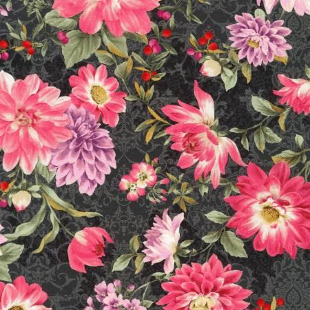 Surrey Meadows Black Floral