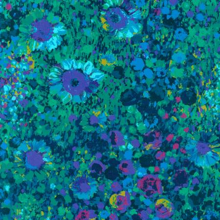 Painterly Petals packed floral navy