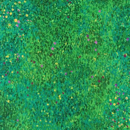 Green Painterly Petals