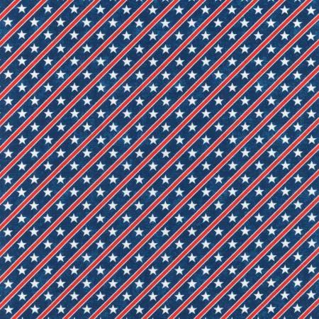 Americana Patriots Stars & Stripes Diagonal Blue