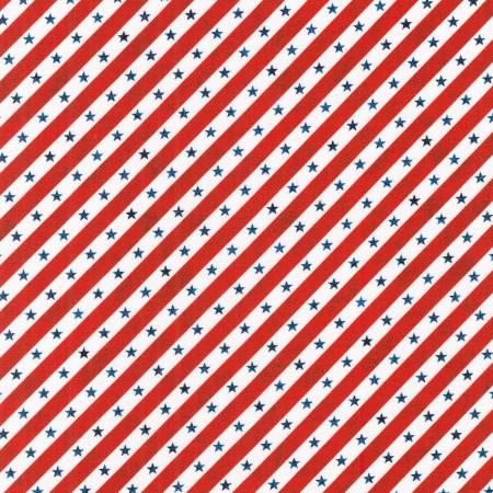 Americana Patriots Stars & Stripes Diagonal Red/White