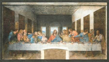 Leonardo Da Vinci Last Supper panel antique