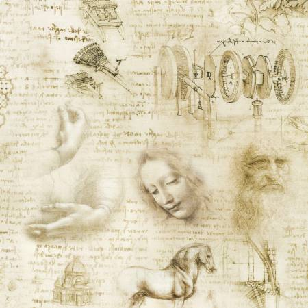Antique Leonardo Da Vinci Toile