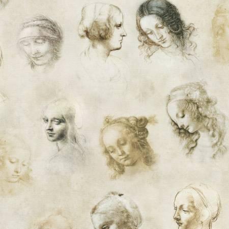 Leonardo Da Vinci Toile antique