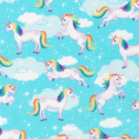 Enchanted Unicorns Aqua