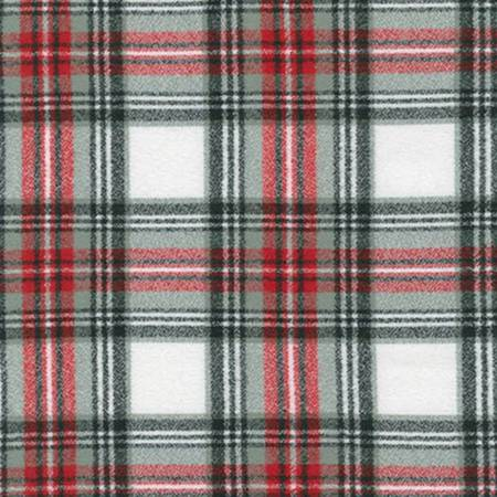 MAMMOTH FLANNEL WHITE W/ RED, BLACK & GRAY PLAID SRKF-14878-276 (COUNTRY)
