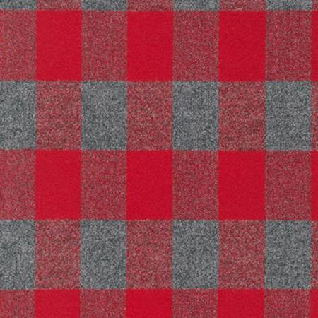 Remnant - Mammoth Flannel - Red 44 - 3/4 yard
