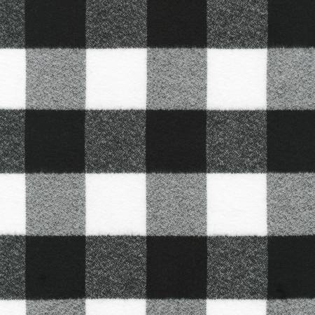 Mammoth Flannel Black and White Buffalo Check