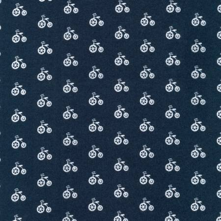 Navy Bicycles on Flannel