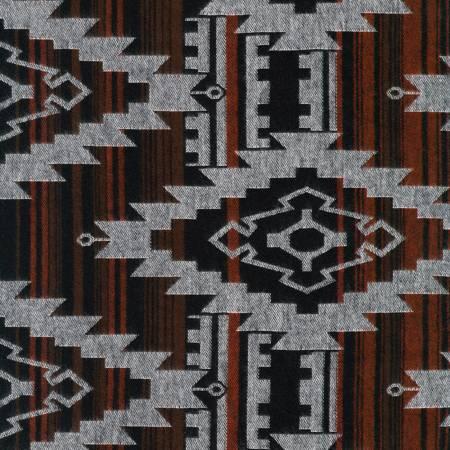 Taos Reversible Cotton Flannel - Brown