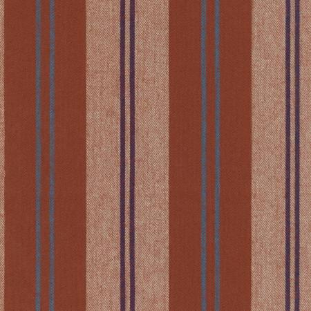 Taos Reversible Cotton Flannel Stripes - Rust