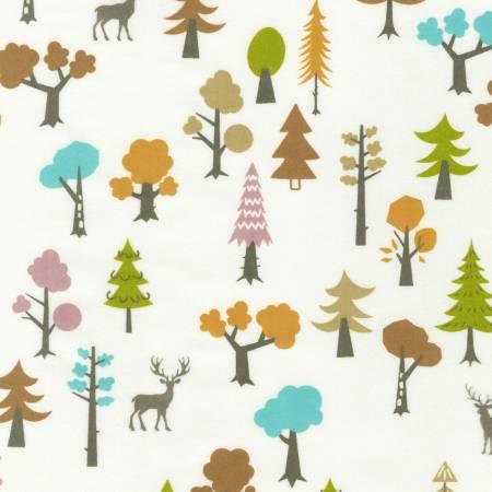 Robert Kaufman Cozy Outdoors Flannel 20443-192 Forest Spring