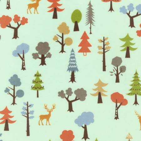 Robert Kaufman Cozy Outdoors Flannel 20443-44 Trees Forest