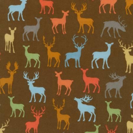 Robert Kaufman Cozy Outdoors Flannel 20444-16 Deer Brown